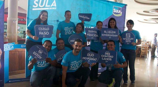 Nuestros colaboradores de la Maratón Sula en San Pedro Sula